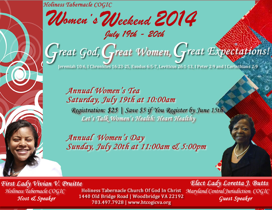Great God, Great Women, Great Expectations - Holiness