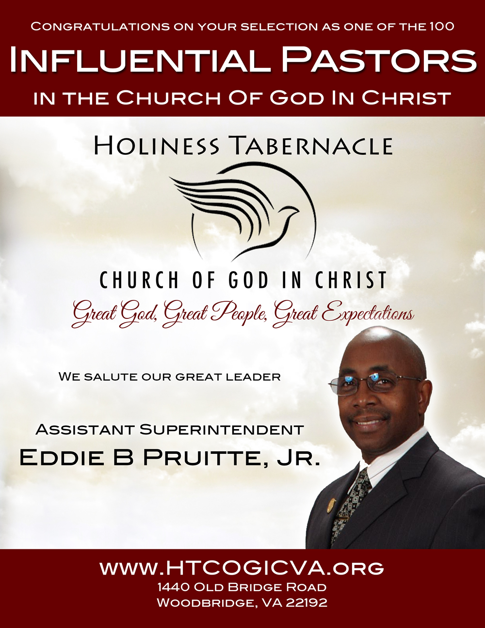 Pastor Pruitte Honored as One of COGIC's 100 Influential Pastors